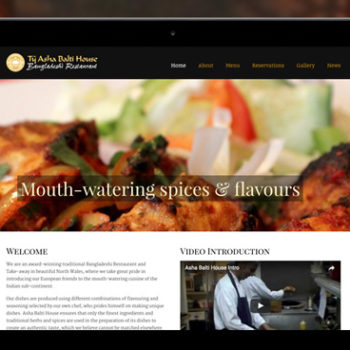 Asha Balti House website design
