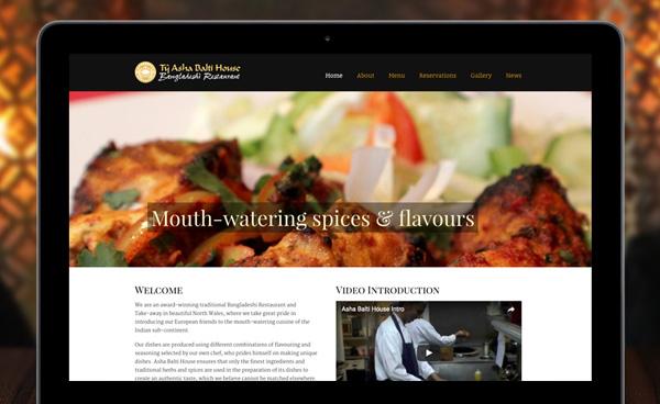 Asha Balti House website design