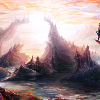 Dragon Cliff Citadels Illustration