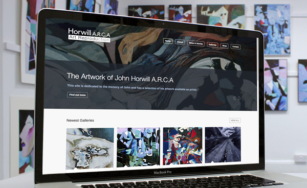 John Horwill A.R.C.A Art Reproduction. Website design