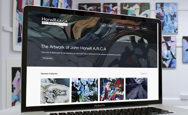 John Horwill A.R.C.A Art Reproduction. Website design