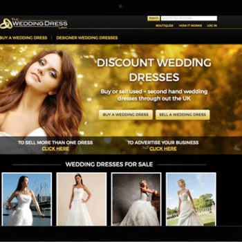 The Wedding Dress Link. Website design