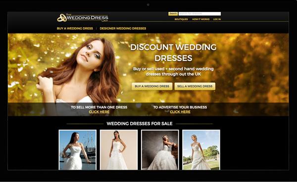 The Wedding Dress Link. Website design