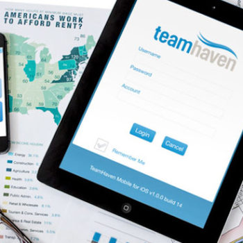 Teamhaven App branding and GUI