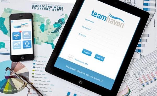 Teamhaven App branding and GUI